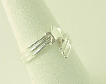Size 7 Sterling Silver Shooting Star Ring