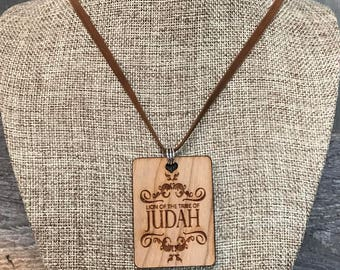 Judah Necklace, Faith Based Jewelry, Group Discounts, Wedding Gifts, Laser Engraved, Bursting Barns Designs
