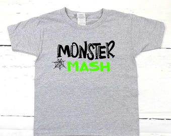 boys halloween shirt boys halloween tee trendy halloween tee kids hallowen shirt kids halloween tee boys monster shirt monster mash shirt