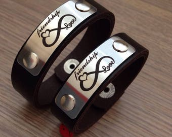 PERSONALIZED LEATHER BRACELET, Leather Cuff, Customized Bracelet, Engraved Leather Bracelet, Engraved Leather Cuff, Custom Leather Bracelet