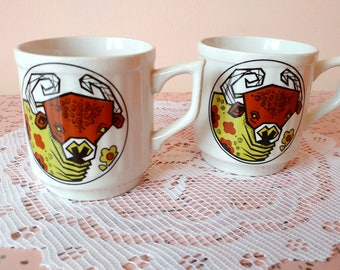 Set of 2 Beefeater English Ironstone coffee mugs