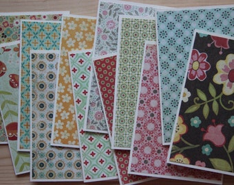 Note Card Assortment.  12 Flower Note Cards.  Vintage Like Cards.  Paper handmade Greeting Cards.  Blank Card Set.  Stationery Gift