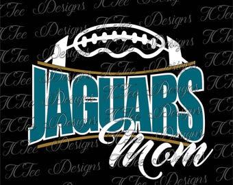 Jaguars Football Mom - Custom SVG Design Download - Vectur Cut File