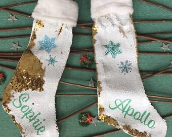 Sequin christmas stocking | Etsy CA