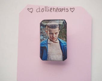 Eleven from Stranger Things pin/brooch