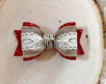 Moana Inspired Hair Bow, Moana Clip, Moana Headband, Moana Head Band