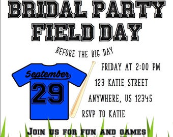 Bridal Party Field Day / Field Day Bridal Shower / Field Day Birthday Party