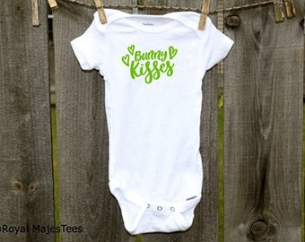 Bunny Kisses Easter Onesies®, 1st Easter, Easter Shirt, Easter bunny shirt, Easter outfit, Toddler Easter shirt, Baby boy, Baby girl