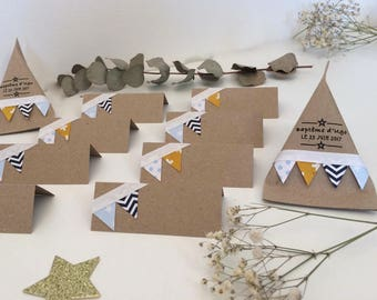 Marks places flags