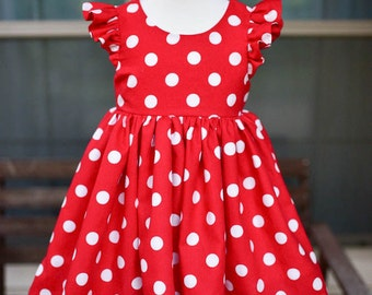 Red & White Polka Dot Minnie Mouse Dress