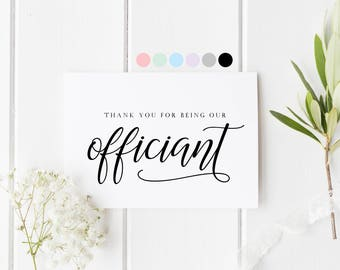 Thank You For Being Our Officiant, Thank You For Marrying Us, Thank You Officiant, Thank You Wedding Card, Card To Priest, Officiant Card