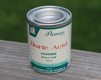 NOS Pameco Boric Acid, Powdered 2oz