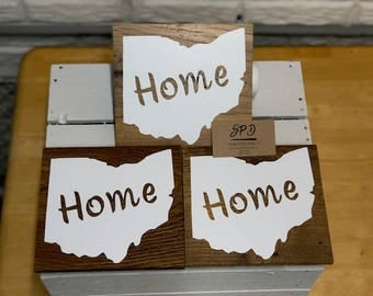 State of Ohio Wood Sign, Ohio Home Sign, Home Wood Sign, State of Ohio