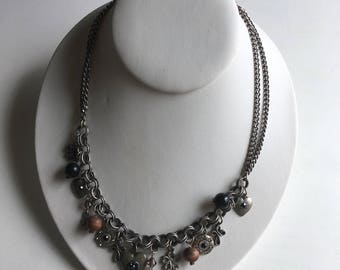 Fashion Vintage Silver  Beaded Signed VCLM very rare