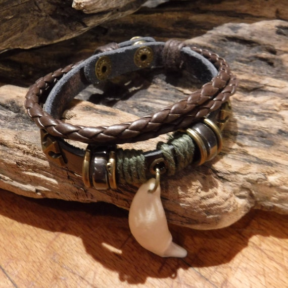 Wolf Tooth Bracelet Wolf Teeth Bracelet Wolf Bracelet Tribal Wolf Tooth Adjustable Bracelet African Native American Tribal Spiritual Healing