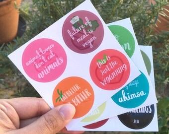 Vegan Stickers - 12 Pack