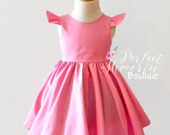 Girl Pink Dress | Baby Pink Dress | Dresses | Pretty in Pink | Pink Dress | Birthday Dress | Party Dress | Flower Girl Dress | Toddler Dress