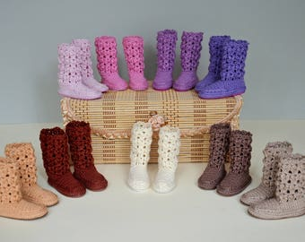Knitted  boots for Minifee, MSD, BJD 1/4.