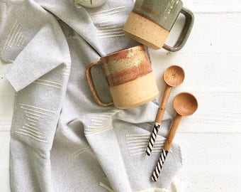 Handmade Ceramic Shino Green Mug