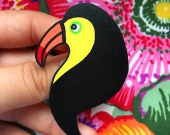 Handmade Toucan Brooch