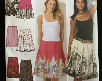 Simplicity 4236 - Skirt Collection with Slim, Half Circle and Full Circle Options - Size 12 14 16 18 20