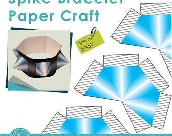 Print and Make Paper Craft - Playful spike bracelet