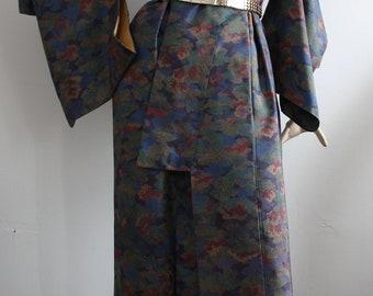 Vintage 1960s Japanese Kimono Robe