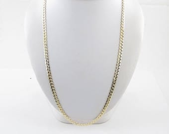 "14K Yellow Gold Men's Cuban Link Necklace - 14k Gold Men's Cuban Chain 22"" 13.50 grams"