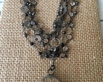 Muliti Strand Crystal Necklace