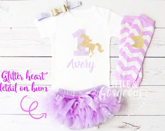 First Birthday Girl Outfit, Unicorn 1st Birthday Outfit, First Birthday Unicorn Onesie, , Unicorn Birthday, Personalized Girls Outfit