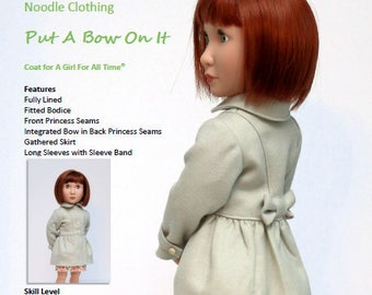 "A Girl For All Time® PDF doll clothes Pattern "" Put A Bow On It"" pattern fits 16 inch A Girl For All Time®"