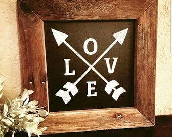Love - Farmhouse Style Chalkboard Sign