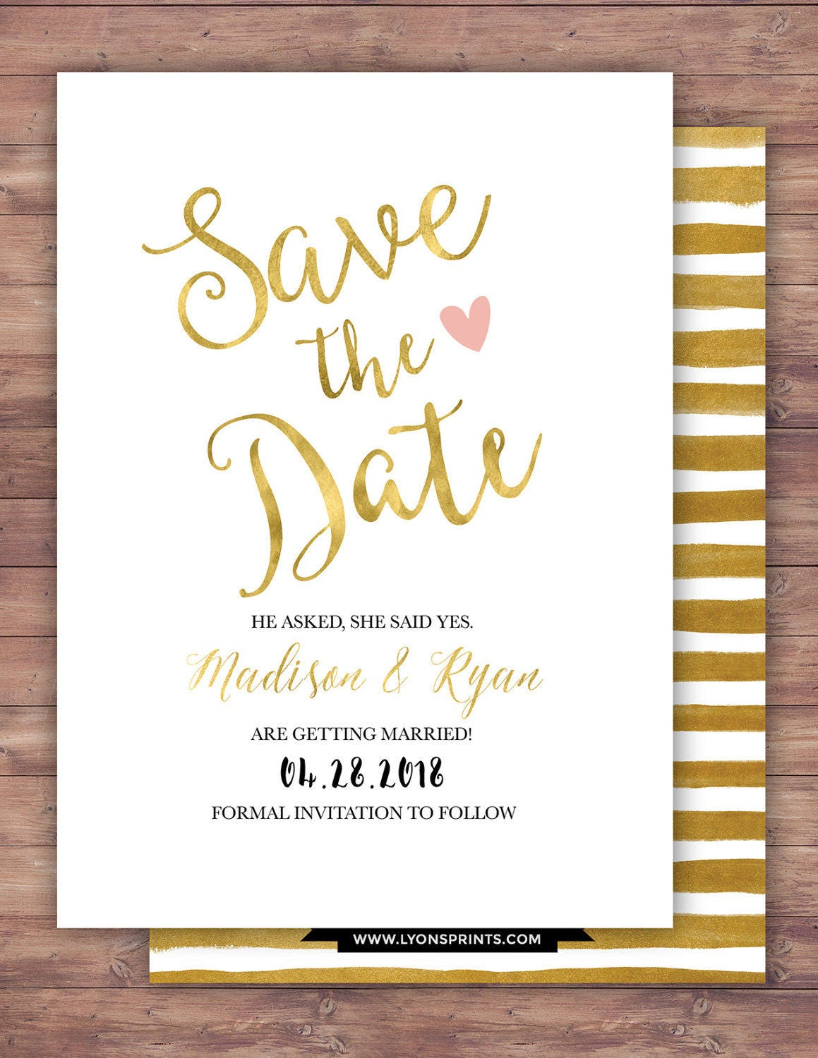 Save The Date BOHO Wedding Shower Invitation Couples Arrows Tribal Bridal Happily Ever After
