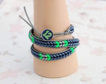 Seahawk Triple Wrap Bracelet