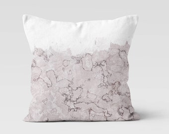 Pink Marble Throw Pillow   Decorative Pillow   Home Decor   Pillow Case