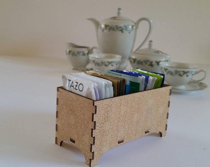 Tea Box, Decorative Tea Box, Sacred Geometry Design