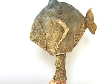 Fish 2.36, ceramic, ceramic sculpture, sculpture