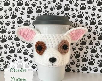 Chihuahua Pattern, Crochet Chihuahua, Crochet Patterns, Crochet Dog Pattern, Mug Cozy Pattern, Amigurumi Puppy, Dog Amigurumi, Crochet Dog