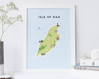Map of The Isle of Man - Illustrated map of The Isle of Man