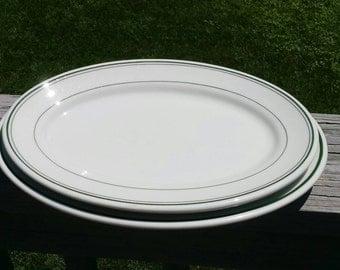Vintage restaurant ware platters lot of 2
