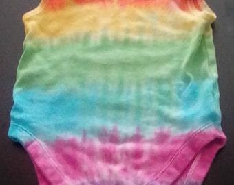 Baby Vests, Rainbow Tie Dye, Rainbow Baby, Miracle Baby, Hippy Baby, Baby Gift,Baby Boy, Baby Girl, New Mom Gift, Newborn to 36 months.