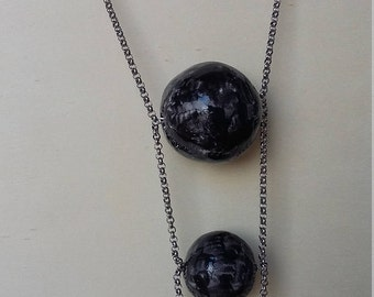 """Ceramic necklace """"Spheres"""" made in Italy hand made"""