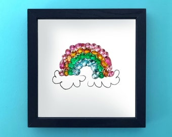 Rainbow Gemstone Diamondoodles Print