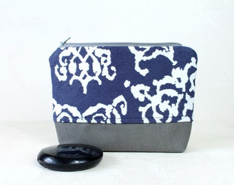 Makeup bag Cosmetic bags Denim bag Jeans blue Denim bag Blue jeans bag make up bag Gift for wife Gift for woman gift Mother day gift