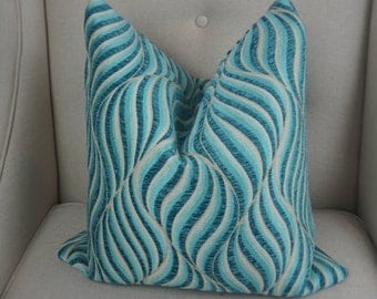 Turquoise Pillow Cover, Turquoise Cushion Cover, Blue Decorative Pillow, Housewares Decor, Pillow Decor, Home living 0046