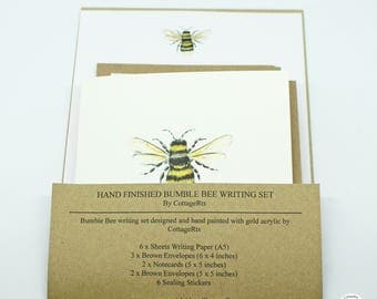 Bumble Bee Letter Writing Set Stationary Set Hand Finished/ Designed by CottageRts Lovely Gift, Present