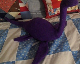 "Purple Stuffed Loch Ness ""Monster"""