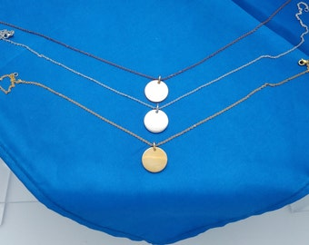 Stainless Steel Round Disc Pendant