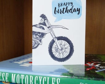 Brappy Birthday Dirt Bike/Motocross Card