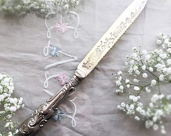 Antique Silver Plate Cake Knife